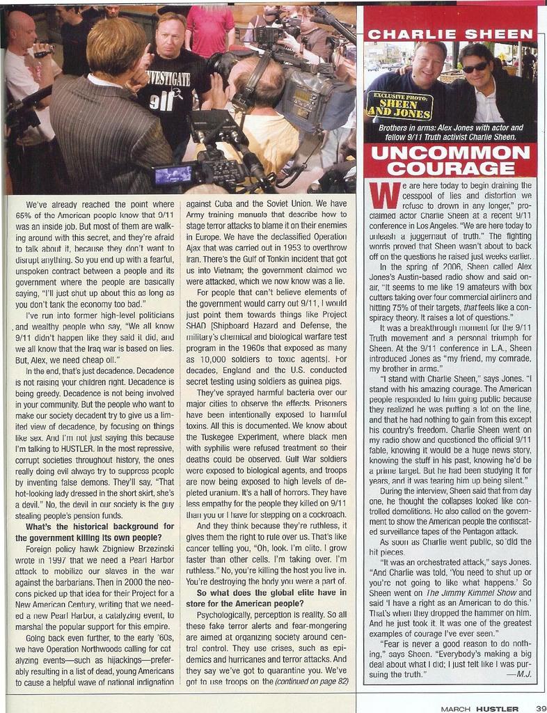 magazine pages Hustler