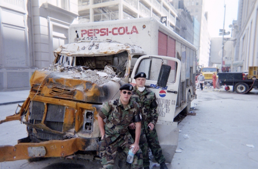 Front of Pepsi-Cola delivery yruck instantly rusted by nuclear shockwave