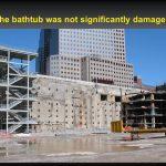 Bathtub after destruction